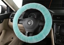 2019 roda de peles 100% de lã de pele de carneiro australiano trecho suave Genuine Fur cobertura de volante cubos de volante de carro quente outono e inverno geral desconto roda de peles