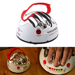 Wholesale Funny Shocking - Funny Portable Adult Polygraph Test Electric Shock Lie Detector Party Game Reloaded Truth Shocking Liar Toy Gift Age 14+
