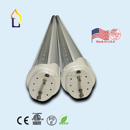Wholesale T8 Led Tube 24w - 50pcs lot 4 5 6 8ft ETL-listed LED T8 v-shaped Tube Lights 24W 30W 40W 48W SMD2835 Led Fluorescent Bulbs AC85-265V stock in USA