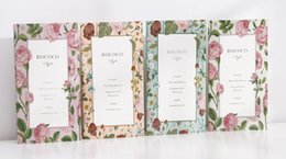 Wholesale Rococo Style - Wholesale- W-Free shipping 8.6*16cm rococo style fashion notebook(1piece)