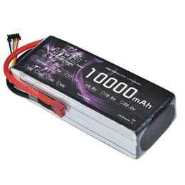 Wholesale Hrb Battery - HRB RC LiPo Battery 14.8V 10000mAh 25C Max 50C 4S For UAV Multi-rotor Quadcopter Airplane Boat Car