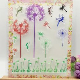 Wholesale Scrapbooking Card Making Supplies - Wholesale- Colorful Dandelion and Angel Transparent Clear Stamp DIY Silicone Seals Scrapbooking Card Making Photo Album Decorative Supplies
