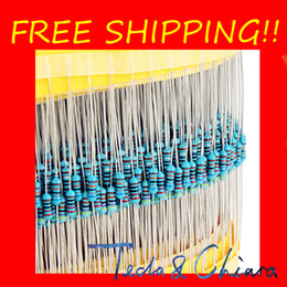 Wholesale Free Resistors - 43K 1.5K 4.7K 10K 300K 510R 1K 100K 100R 20K 510 100 Ohm R 1 6W 1 8W 1% Metal Fixed Film Resistor Colored ring Resistance Free Shipping