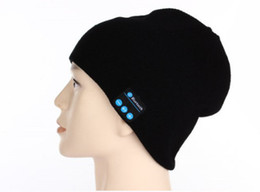 Wholesale Apple Hats Wholesale - 10m Men Women Winter Outdoor Sport Bluetooth Stereo Music Hat Wireless Bluetooth Earphone Hat for iPhone Samsung Android Phones