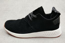 Wholesale Girls Runners - Discount Cheap mens Pink NMD C2 suede Boost,2018 new Women girls Sports running shoes,Gym Jogging Trainers Crazy Runner Training Sneakers