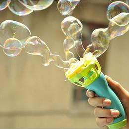 Wholesale Bubbles Guns - Wholesale-Electric Bubble Gun Toys Bubble Machine Automatic Bubble Water Gun Essential In Summer Outdoor Children Bubble Blowing Toy