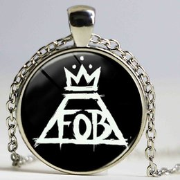 Wholesale Rocks Picture - Wholesale Glass Dome Pendant 1pcs Fall Out Boy Rock Brand Art Picture charm necklace Jewelry for fans