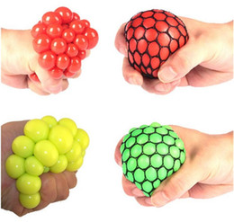 Wholesale Healthy Stress - Free shipping6.0 large Cute Anti Stress Face Reliever Grape Ball Autism Mood Squeeze Relief Healthy Toy Funny Gadget Vent Decompression toys