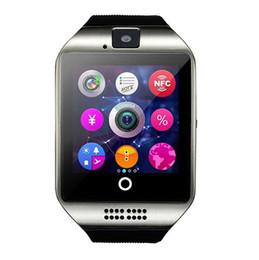 2019 telefone mikro-sim-karten Q18 Bluetooth Smart Watch Telefon mit 0,3 MT Kamera MTK6261D Smartwatch für android-handy Micro Sim TF karte Männer Frauen Uhr günstig telefone mikro-sim-karten