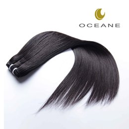 Wholesale Hair Weave Wholesalers China - china grove hair salons Virgin human hair Weaves and natural color soft straight wave 100g pcs double wefts Oceane hair