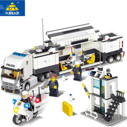 Argentina KAZI 6727 bloques de construcción modelo de estación de policía bloques de construcción 511 + pcs bloques de Playmobil ladrillos bricolaje juguetes educativos para niños Suministro