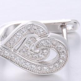 Wholesale High Reputation - High Quality Good Reputation Gold Zirconium Small Octagonal Jewelry Set, Pendant Earrings. 925 Silver 18K Platinum