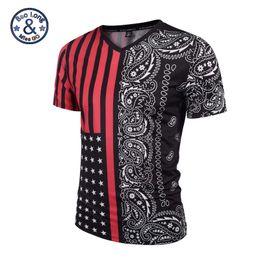 Wholesale Mens V Necks T Shirts - High quality good brand summer t-shirts 3d print noble deep red stripe fashion mens v-neck t shirt womens sweatshirts unisex casual t shirts