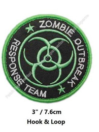 Wholesale Team Clothes Wholesale - GREEN ZOMBIE HUNTER OUTBREAK RESPONSE TEAM TACTICAL BIOHAZARD MILSPEC ACU Hook & Loop Patch tv moive series badge for clothing