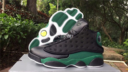 Wholesale Rays Light - Air Retro 13 RAY ALLEN Away PE Black Green And White Green Basketball Shoes Mens Air Retro 13 size us 8-13