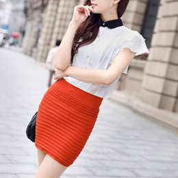 Wholesale Lady Office Sexy - New Fashion Lady Sexy Summer Skirt Women High Waist Tight Hip Pack Skirt OL Mini Office Short Skirts