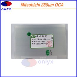 Wholesale Oca Optical - Mitsubishi 250um OCA sticker Flim for iphone 5 6 6plus 6s 7 7plus lcd touch screen outer glass optical clear adhesive glue sticker