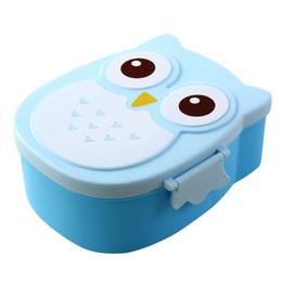 Wholesale Owl Tableware - Wholesale- 2017 Hot StyleBento Box Cartoon Cute Owl Bento Lunch Meal Box Tableware