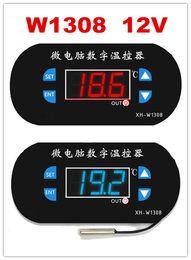 Nouveau Numérique rouge / bleu Affichage W1308 Réglable Cool / Capteur de chaleur 12v Contrôleur de température Contrôleur de thermomètre ? partir de fabricateur