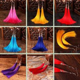 Wholesale Earrings Tibetan Resin - Colors Ethnic Style Long Tassel Earrings Original Bridal Jewelry Tibetan Silver Earring China Retro Accessories Free Shipping
