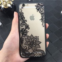 Wholesale Case Sexy - Fashion Sexy Lace Datura Flower Case For iphone 7 6 6S 5 5S SE Beautiful Mandala Floral Phone Cases Cover Coque Capa