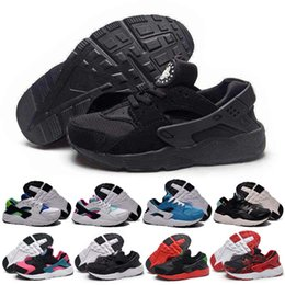 Wholesale Kid Stretch - 2016 New Kids Huarache Snakers Shoes For Boys Grils Authentic White Red Black Children's Trainers Sport Running Shoes Size 28-35