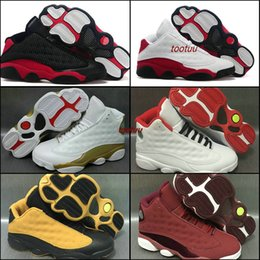 Wholesale Pu Golf Balls - Air Retro 13 Mens Basketball Shoes Sneakers White Bred Black Cat Low Chutney Melo PE DMP History of Flight Heiress Basket Ball Sports Shoes