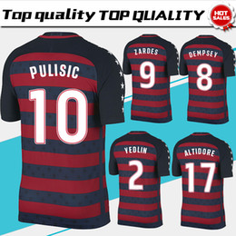 Wholesale Shirts Numbers - Golden Cup Soccer Jersey 17 18 #8 DEMPSEY #10 PULISIC #9 ZARDES soccer shirt short sleeve Football uniforms white number hot sales
