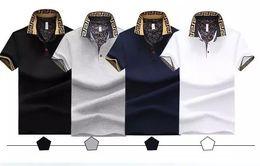 Wholesale Mens Plus Size Polo - 2017 Mens Polo Shirt Brand Plus Size 4XL Cotton Polo Shirt Men Slim Fit Brand Clothing Black Solid Polo Shirt