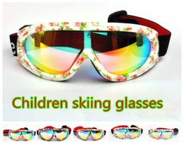 Wholesale Ski Kids Glasses - Wholesale- Kids Single mirror UV400Ski Goggles Anti-wind Professional Children Ski Glasses Winter Girls Boys Eyewear