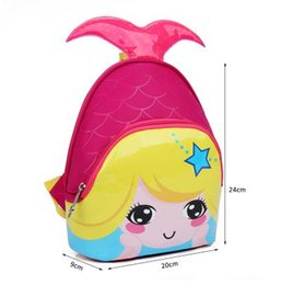 Wholesale School Bags For Kids Wholesale - Kids Bags 2017 New Fashion Cute Waterproof Children Backpacks Cartoon Mermaid School Bags for Kindergarten Girls Baby Bag