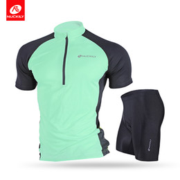 Wholesale Nuckily Cycling - Nuckily Men's summer classic lightweight short sleeve cycling jersey and 3D gel pad short set NJ601NS355