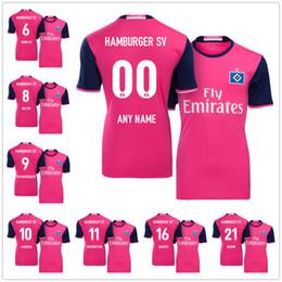 Wholesale Soccer Jersey Pink - Mens Soccer Jerseys 6 Douglas 7 Wood 8 Holtby 9 Papadopoulos 10 Lasogga 11 Gregoritsch 16 Janjicic 21 Bahoui Pink Football Shirt Kit