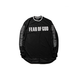 Wholesale Autumn Material - Fear of God Jersey Material Sport Style T-shirt Long Sleeve 2017 Autumn Hip Hop Tshirts Justin Bieber Shirts H1761XT