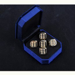 Wholesale Copper Dice - 5 PCS Set Full Copper Digital Dice 13*13mm Dice Standard Six Sided Decider Board Game Acessorios Send For Best Gift