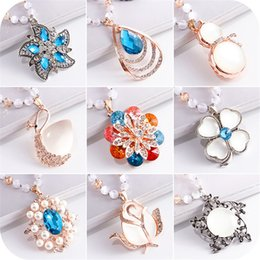 Wholesale Necklace Female - winter fashion sweater chain all-match Crystal Necklace female pendant pendant jewelry and accessories