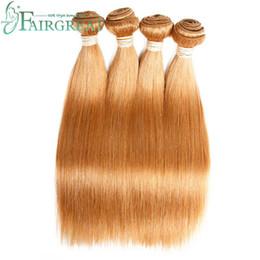 Wholesale Big Hair Weave - Fairgreat Brazilian Straight Human hair Weft Non Remy Color Light #27 100% Human Hair Extensions Brazilian Virgin Hair Bundles Big Promotion