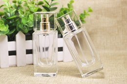 Wholesale Empty Metal Case - 2017 Best Price 50ml perfume bottle Glass Refillable Perfume Bottle With Metal Spray &Empty Package Case glass perfume bottles with spray