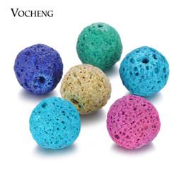 morsetto di bracciali Sconti Sfera del profumo 14mm Mix Colori Aromaterapia Olio essenziale palla di pietra naturale per Angel Locket VA-373