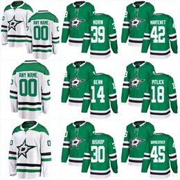 Wholesale Red Bishops - 2018 New Season Dallas Stars Jerseys 29 Greg Pateryn 30 Ben Bishop 32 Kari Lehtonen 14 Jamie Benn Tyler Seguin Custom Hockey Jersey