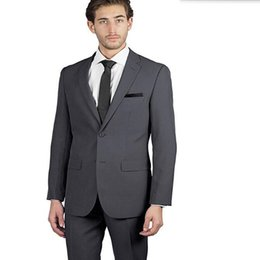 Eleganti abiti moderni online-Nuovi uomini di design abiti eleganti uomini moderni abiti da sposa smoking grigio slim fit sposo migliori abiti da uomo (giacca + pantaloni)
