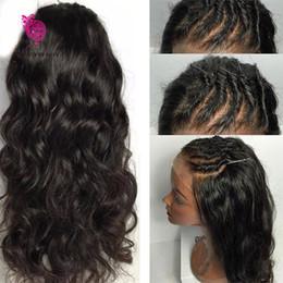 Wholesale Human Hair Silk Base Lace - 8A Silk Top Full Lace Wigs Brazilian Virgin Hair Body Wave Glueless Silk Top Lace Front Wigs 100% Human Hair Silk Base Wig