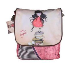 Wholesale Little Girls Cute Bags - Women Brand Designer pink canvas Shoulder bag for Cute little girl cartoon fashion Messenger bag Cross body Bags school bag