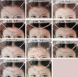 Wholesale Diamond Frontlet - New Crystal Bridal Hair Accessories Wedding Rhinestone Waterdrop Flower Tiara Crown Headband Frontlet Hair bands Jewelry for Bride