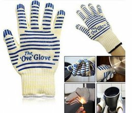 Wholesale Oven Cooking - High Quality the Ove Glove Microwave oven Glove 540 F Heat Proof Resistant Cooking Heat Proof Oven Mitt Glove Hot Surface Handler