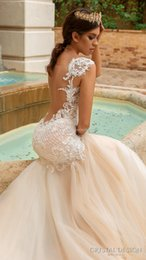Wholesale Sweetheart Fit Flare Gowns - sheer back mermaid wedding dresses 2017 crystal design bridal embellished bodice sleeveless sweetheart neckline fit and flare wedding gowns