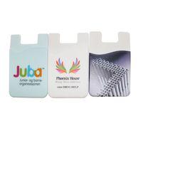 Monedero universal pegajoso para el teléfono de 3M con logotipo personalizado, tarjeta de crédito empresarial adhesiva de silicona, bolsillo de silicona, bolsa de billetera inteligente desde fabricantes