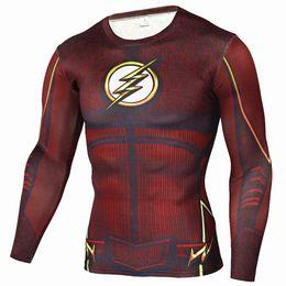 9ab2da8bf31414 Vente en gros-Mens Anime Flash Flash Allen 3D T-shirts Imprimé Chemise de  compression Fitness Hommes Crossfit T-shirt à manches longues Marque  Vêtements
