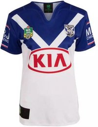 Wholesale heat jerseys - Free shipping!NRL National Rugby League Bankstown Bulldogs 2017 jerseyHigh-temperature heat transfer printing jersey Rugby Shirts (stitched)