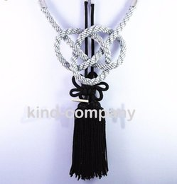 Wholesale Trucks China - 2 In 1 China black Kiku Knot Gray Kin Rope decoration power For Car auto truck Rearview Mirror Vip Charms